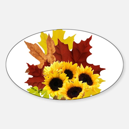 Fall Bouquet Oval Decal