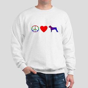 Peace, Love, Cane Corso Sweatshirt