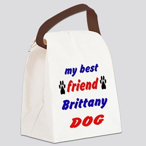 My best friend Brittany Dog Canvas Lunch Bag