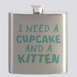 I need a cupcake and a kitten Flask