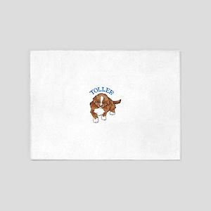 Toller Puppy 5'x7'Area Rug