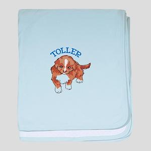 Toller Puppy baby blanket