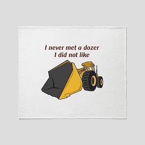 Never Met A Dozer Throw Blanket