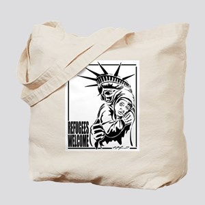 Refugees Welcome Tote Bag