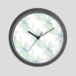 Watercolor Dragonfly Beach or Lake Art Wall Clock