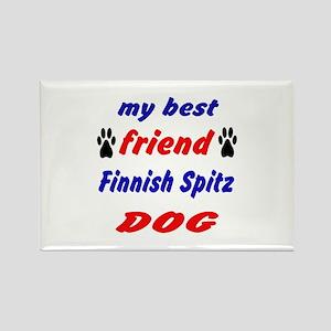 My best friend Finnish Spitz Dog Rectangle Magnet