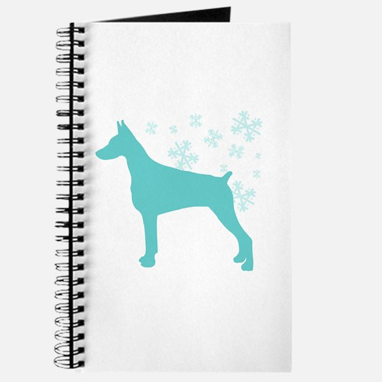 Doberman Pinscher Snowflake Journal