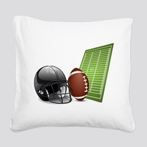 American football ball and he Square Canvas Pillow