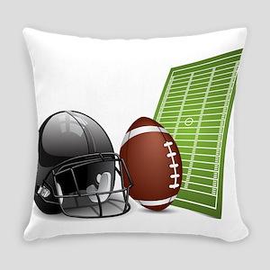 American football ball and helmet Everyday Pillow