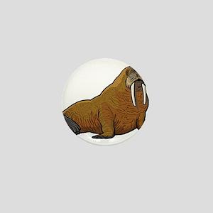 Walrus wild animal Mini Button