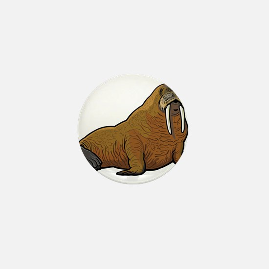 Walrus wild animal Mini Button
