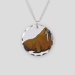 Walrus wild animal Necklace Circle Charm