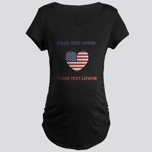 Personalized Patriotic Maternity T-Shirt