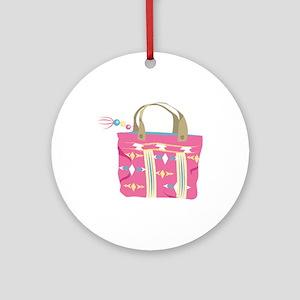 Tote Bag Round Ornament