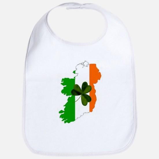 Map of Ireland w/Shamrock Bib