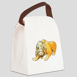 Ferocious lion art Canvas Lunch Bag