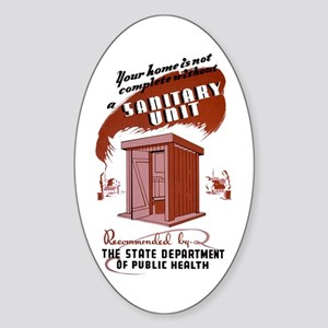 WPA Sanitary Unit Oval Sticker