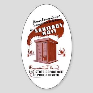 WPA Sanitary Unit Oval Sticker