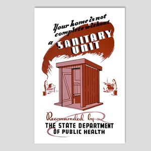 WPA Sanitary Unit Postcards (Package of 8)