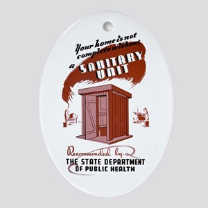 WPA Sanitary Unit Oval Ornament