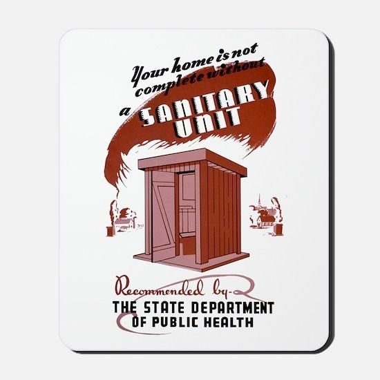 WPA Sanitary Unit Mousepad
