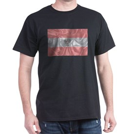 Silk Austrian Flag and Coat of Arms T-Shirt