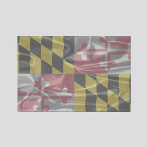 Maryland State Silk Flag Magnets