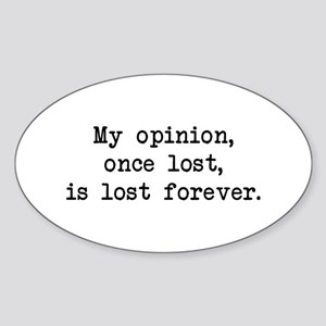 My Opinion - Mr. Darcy Oval Sticker