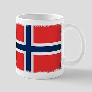 Grunge Flag of Norway Mugs