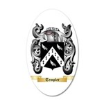 Templer 20x12 Oval Wall Decal