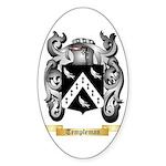 Templeman Sticker (Oval 10 pk)