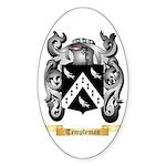 Templeman Sticker (Oval 50 pk)