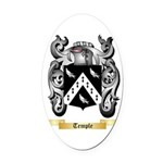 Temple Oval Car Magnet
