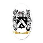 Templar Oval Car Magnet