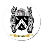 Templar Round Car Magnet