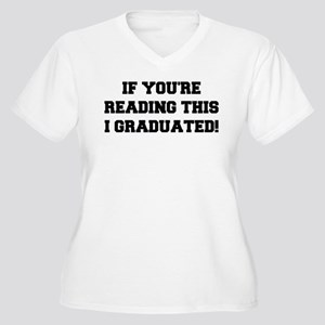 I Graduated Women's Plus Size V-Neck T-Shirt