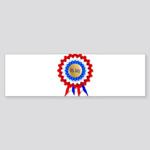 Independence Day Rosette Bumper Sticker