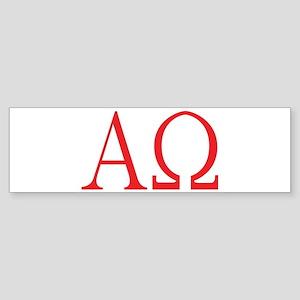 Alpha Omega Bumper Sticker