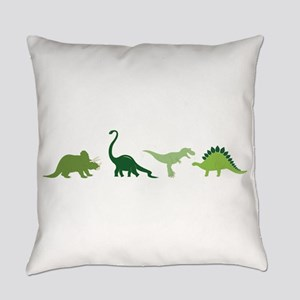 Dino Border Everyday Pillow