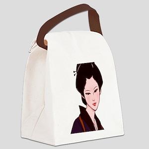 Anime_Geisha_Girl Canvas Lunch Bag