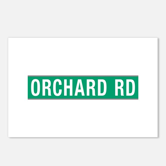 Orchard Rd, Street Sign, Postcards (Package of 8)