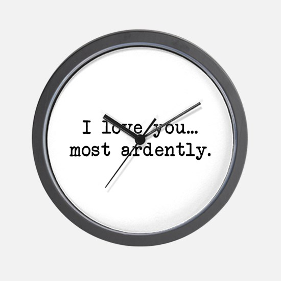 Most Ardently - Mr. Darcy Wall Clock