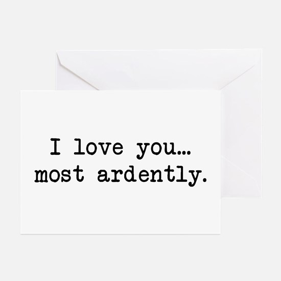 Most Ardently - Mr. Darcy Greeting Cards (Pk of 10