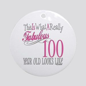 100th Birthday Gift Ornament (Round)