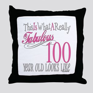 100th Birthday Gift Throw Pillow