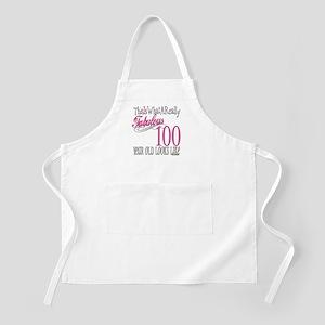 100th Birthday Gift BBQ Apron