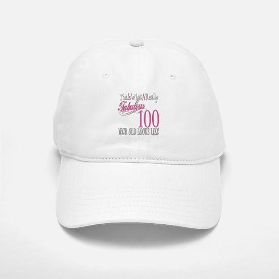 100th Birthday Gift Baseball Baseball Cap