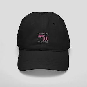 100th Birthday Gift Black Cap