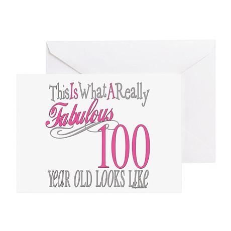 100th Birthday Gift Greeting Card