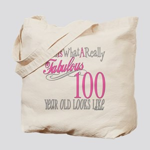 100th Birthday Gift Tote Bag